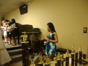 Many trophies for students